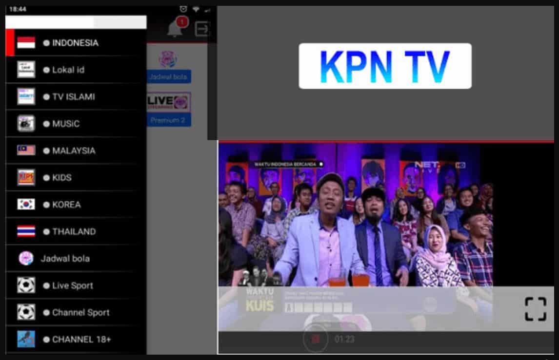 Anda dapat memilih tema channel pada kolom sebelah kiri seperti TV musik