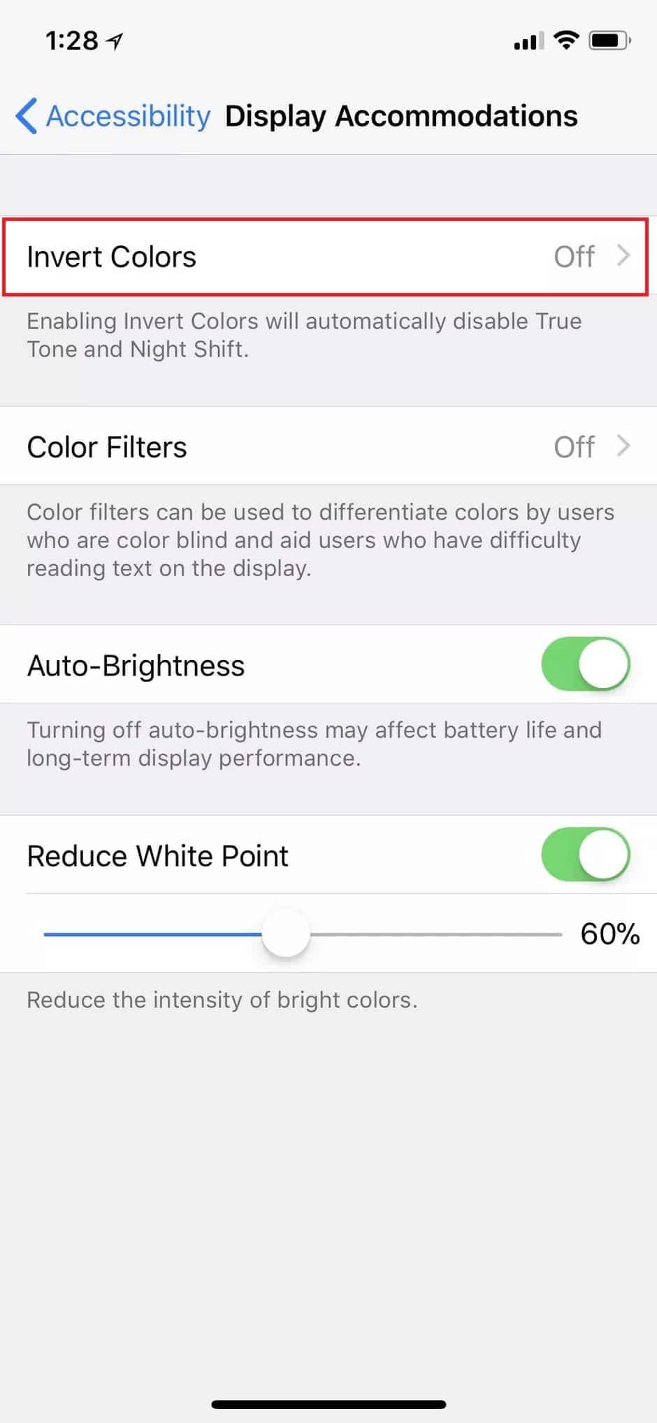 Selanjutnya-tap-pada-opsi-Invert-Colors-yang-berfungsi-untuk-mengganti-warna-ke-dalam-mode-invert