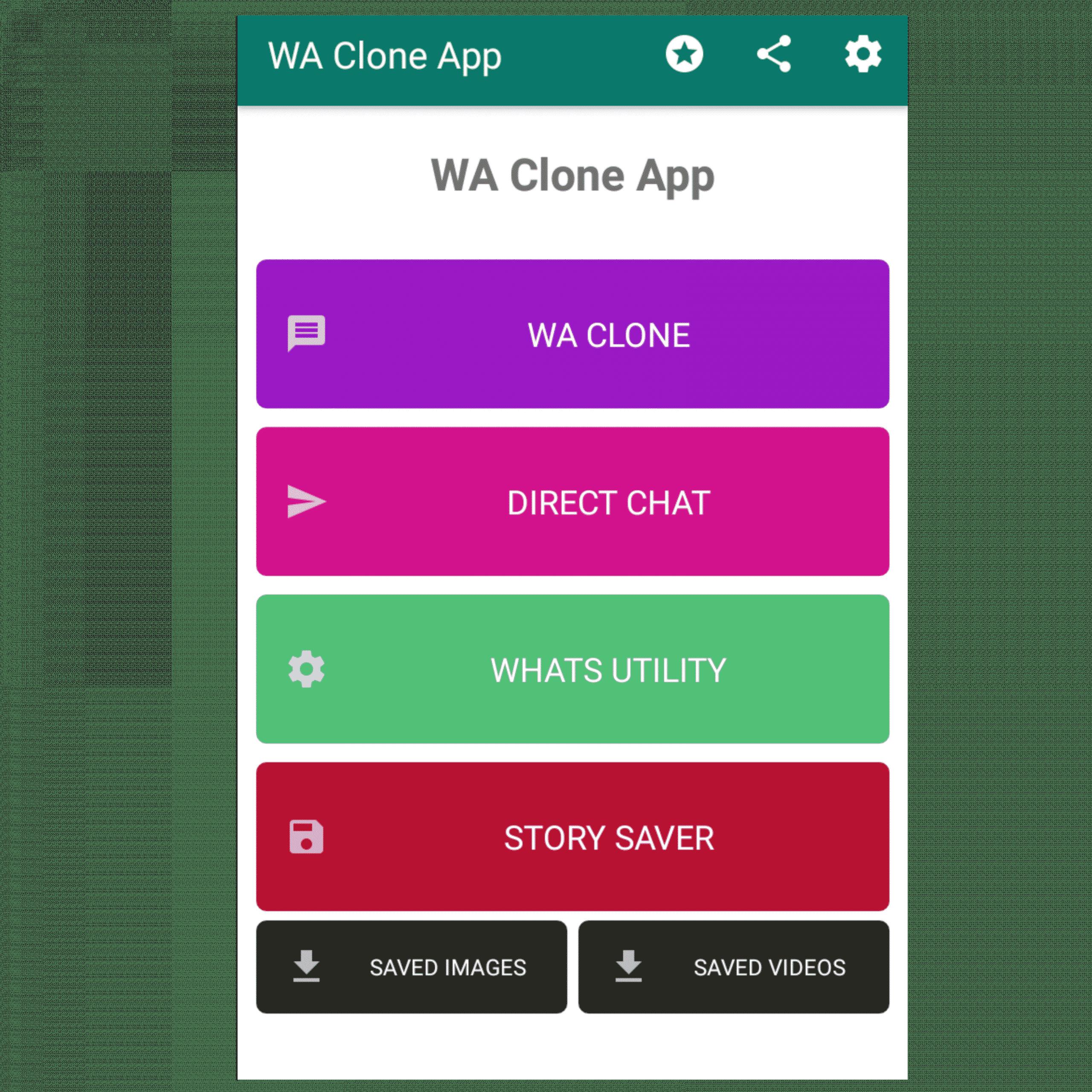 Setelah itu, perhatikan menu WA Clone yang ada di bagian paling atas, dan pilih opsi fitur yang bernama WA Clone.