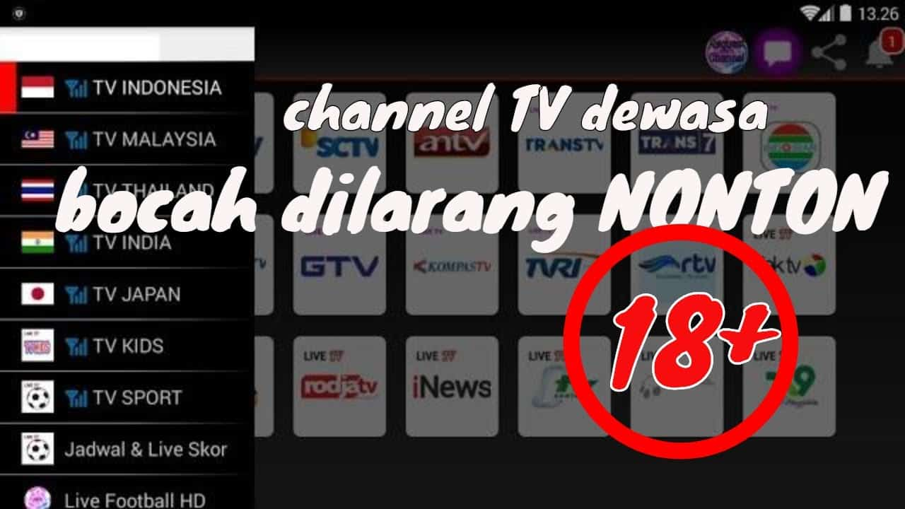 Streaming Channel Khusus 18+