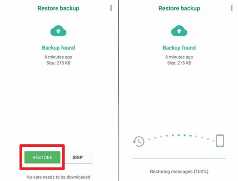 Apabila-proses-konfirmasi-akun-WhatsApp-sudah-berhasil-maka-pilihlah-menu-Pemulihan.-Menu-ini-berfungsi-untuk-mengembalikan-cadangan-chat-yang-ada-di-Google-Drive