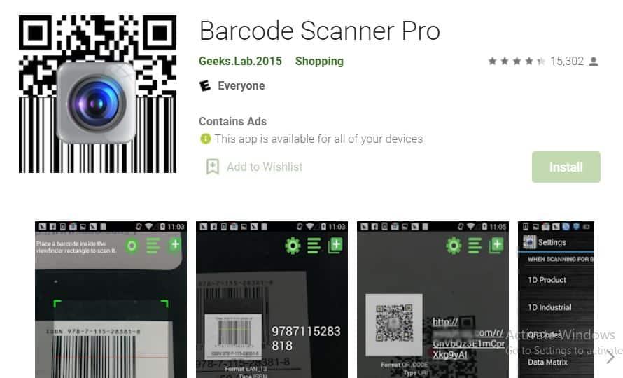 Barcode-Scanner-Pro