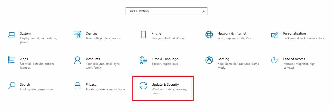 Begitu-jendela-Setting-muncul-Anda-bisa-memilih-Update-Security.-Letaknya-di-bagian-pojok-kanan-bawah.