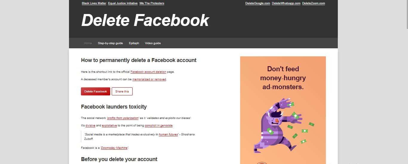 Klik-Menu-Delete-Facebook-pada-halaman-utama-kemudian-Anda-akan-diarahkan-pada-halaman-resmi-penghapusan-akun-Facebook