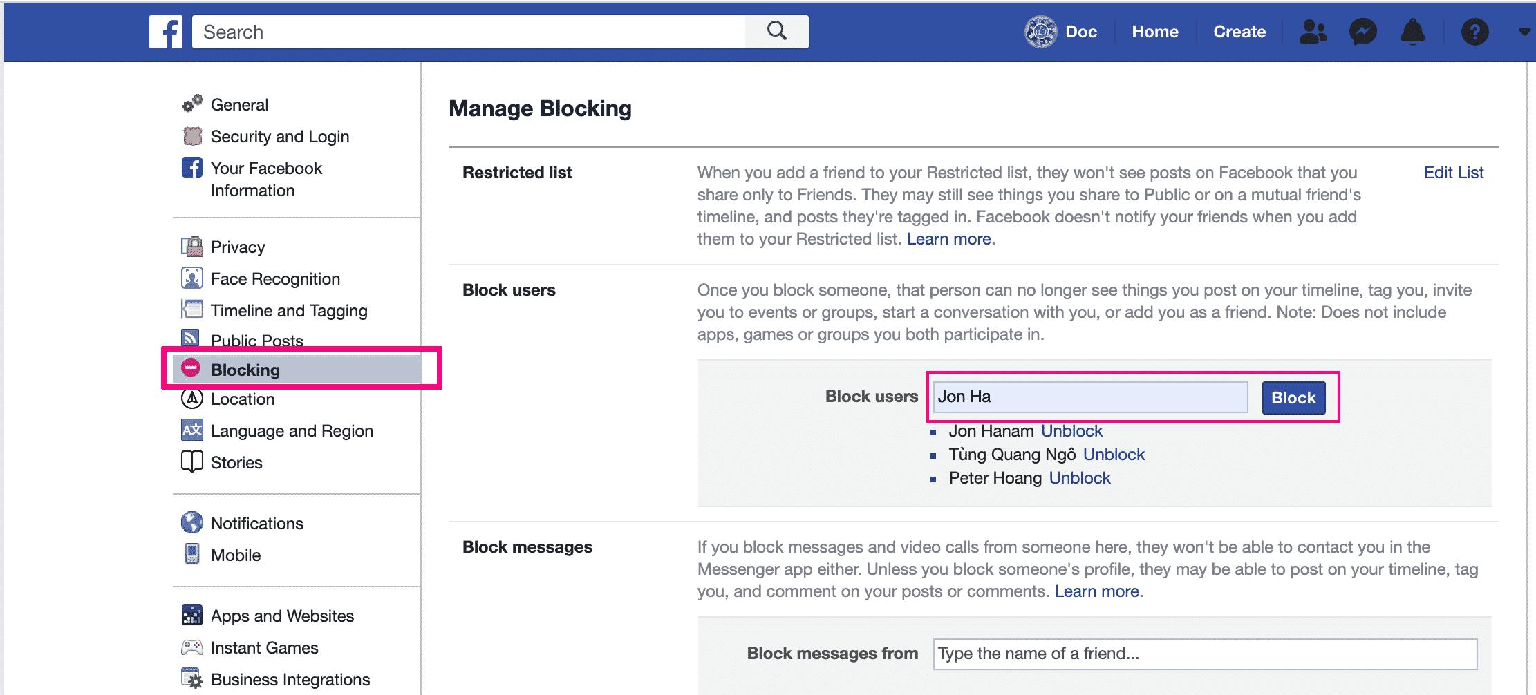 Klik-Tambahkan-Daftar-Blokir-lalu-masukan-username-Profil-yang-akan-Anda-blokir