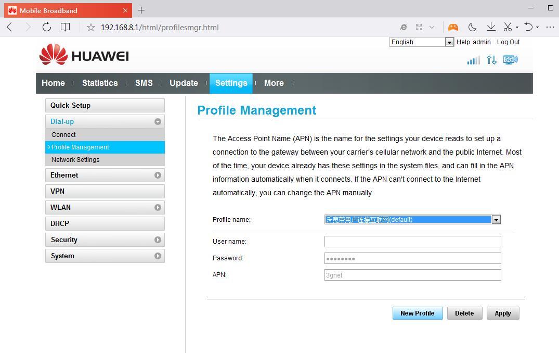 Sekarang-klik-menu-Settings-pilih-Dial-up-dan-pilih-Profile-Management