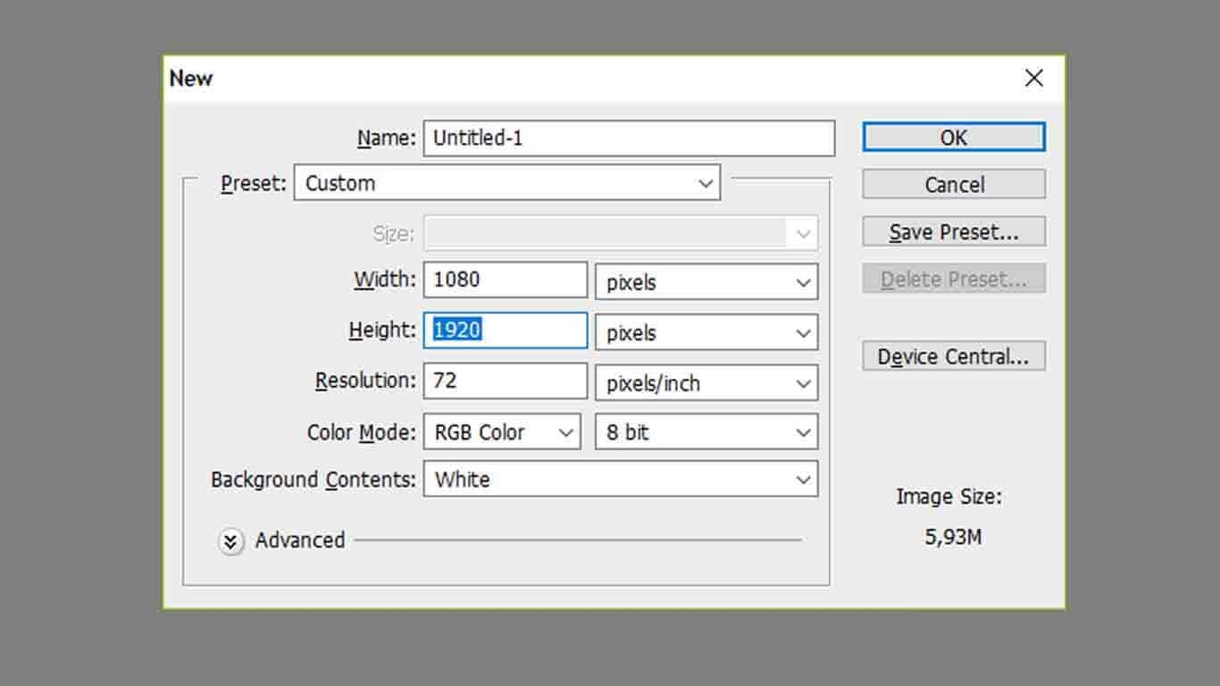 Setelah-muncul-pop-up-untuk-mengatur-layout-isikan-sesuai-dengan-aturan-ukuran-IG-Story-di-atas-yaitu-1080-untuk-width-1920-untuk-height-dan-72-pixels-untuk-resolusinya.