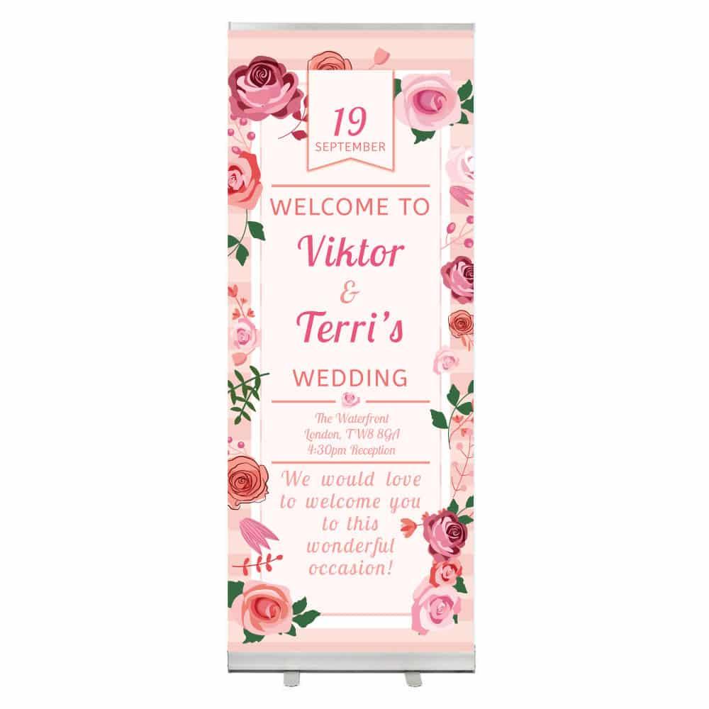 Banner-Wedding-dengan-Desain-Bunga