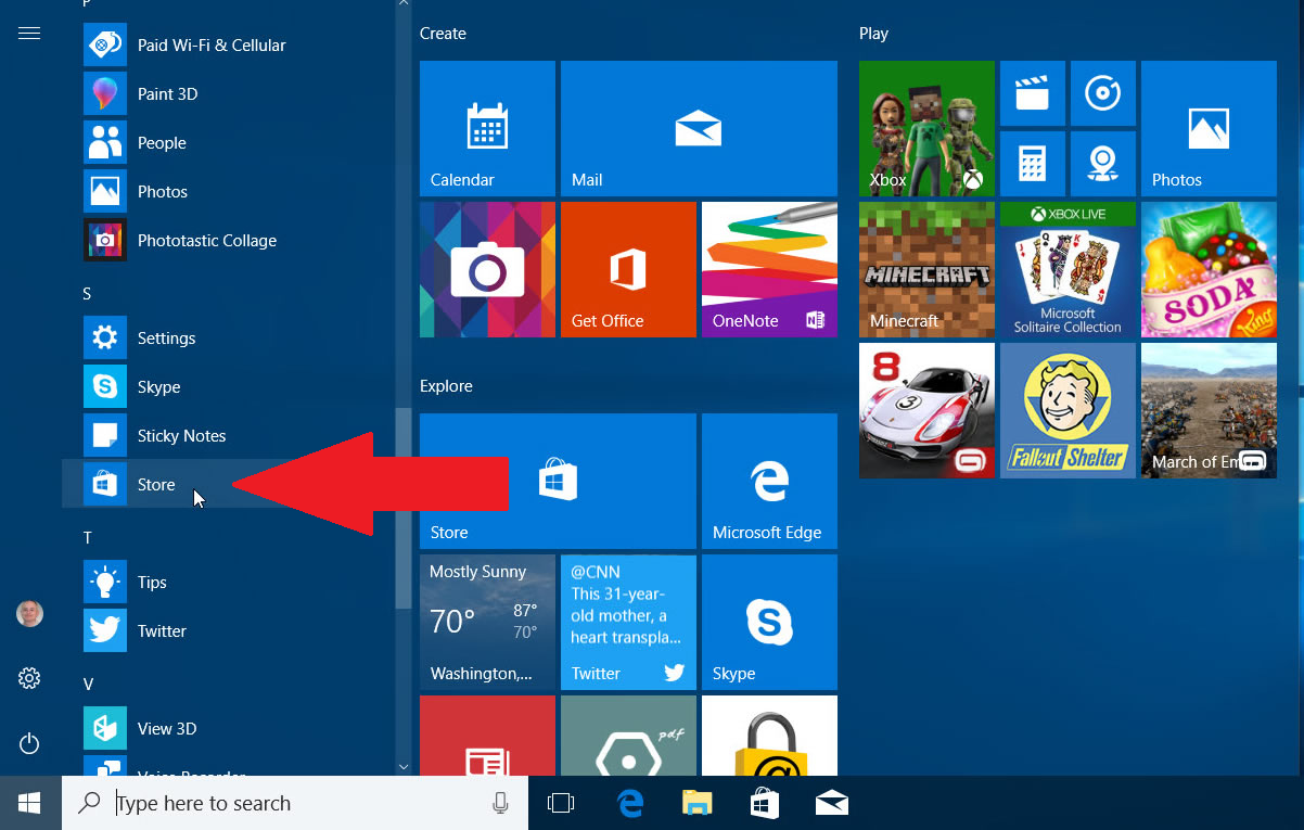 Klik-Windows-Store