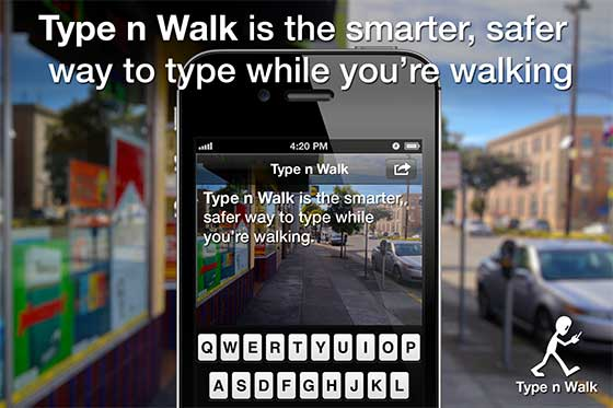 Type-While-Walk